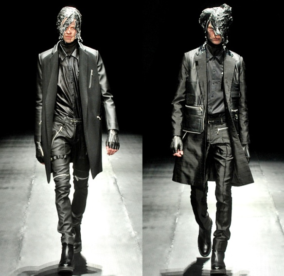 99-percent-is-bajowoo-2014-2015-fall-autumn-winter-mens-mercedes-benz-fashion-tokyo-black-apocalyptic-shorts-zippers-leather-coat-biker-mask-straps-kilt-10x